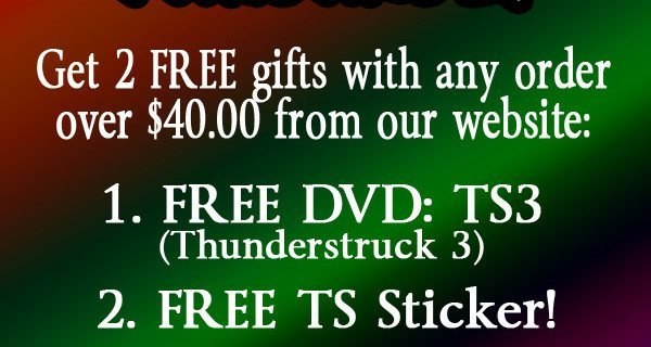 FREE DVD SALE!  FIVE DAYS ONLY!  PLUS FREE STICKER!